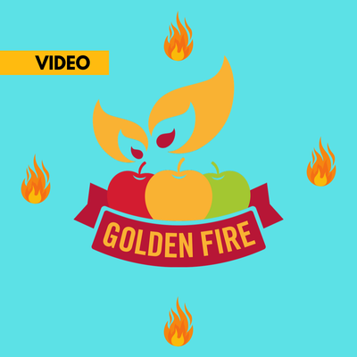 golden fire tile