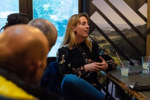 Rebecca Farkas at the Great Place Hidden Gems winners meeting, 2018