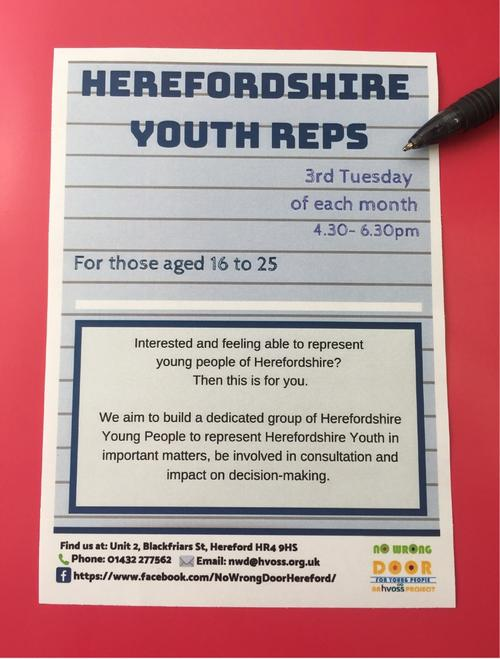 Herefordshire Youth Reps is a new group - join now