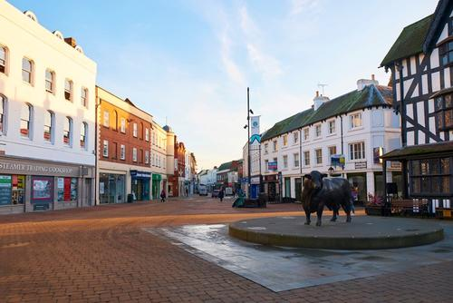 Hereford's High Town. Image by Laura Haworth.